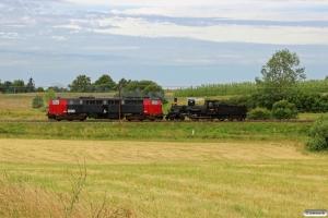 DSB K 563+MZ 1401 som VM 222112 Ap-Od. Km 166,0 Kh (Odense-Holmstrup) 28.06.2017.