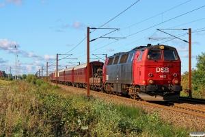 DSB MZ 1401 med VM 6315 Bm-Od. Km 219,0 Kh (Snoghøj-Taulov) 08.10.2017.
