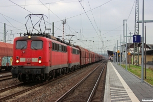 DB 140 833-5+140 850-9. Neuwied 24.01.2015.