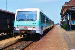 DB 928 208-8+628 208-1 som P 4371 Flb-Pa. Padborg 30.06.1990.