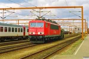 DSB Køf 255+DB 155 121-7 - Lok fra GD 45756. Padborg 19.03.1998.