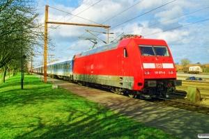 DB 101 071-9 bagpå IP 2184 Hannover Hbf-Fa. Padborg 19.03.1998.