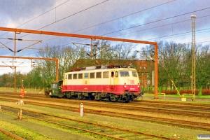 DSB Køf 284+DB 110 502-2 - Lok fra IP 13274. Padborg 07.02.1999.