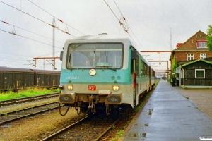 DB 628 222-2+928 222-9 som RE 35089 Pa-Flensburg. Padborg 20.08.1999.