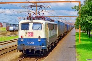 DB 140 406-0 med GD 42202. Padborg 20.08.1999.