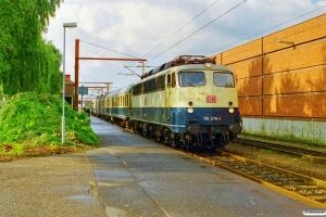DB 110 376-1+BDms+ABn+110 259-9 som RE 35099 Pa-Flensburg. Padborg 20.08.1999.
