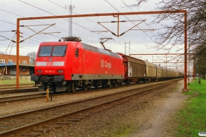 DB 145 002-2 med GD 45741. Padborg 11.04.2001.