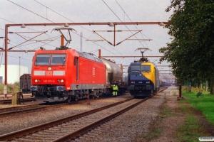 DB 185 071-8 med GD 44733 og RDK 3108 - Lok fra GD 38933 Mgb-Pa. Padborg 18.08.2006.