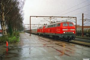 DB 218 160-0+218 184-0+Dm 005+Bc-t 317+311+315+312+314+310+316+313 som DZ 13284 Bludenz-Kh. Padborg 28.01.2007.