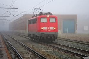 DB 115 198-4 som Tfzf 77677 Pa-Flensburg. Padborg 23.01.2011.