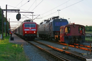 DB 120 151-6 med EN 1273 og DSB Køf 285+EA 3022. Padborg 28.07.2012.