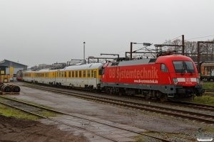 DB 182 506+Målevogn 006+005+010+HCTOR 242.502. Padborg 24.11.2018.