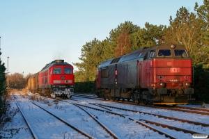 DB 232 583-5 med Tog 44753 Tdr-Maschen Rbf og RSC MZ 1449. Tønder 06.12.2012.