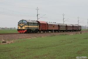 NSB Di3.602+5 vogne+DSB MX 1001 som RST 69048. Åstorp - Ängelholm 14.05.2010.