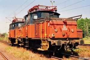 SJ UF 859+UF 848. Helsingborg 07.07.1991.
