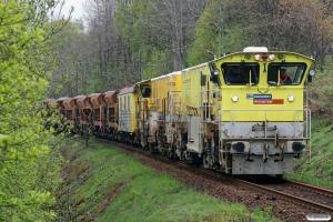 BV DLL 3101B+DLL 3109E+vogne+SJ T42 205 som RST 69049. Båstad S - Grevie 14.05.2010.