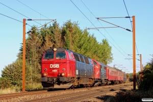 DSB MZ 1401+RT MX 42+A 000+Bk 016+Bc-t 317 som VM 6469 Ro-Od. Km 155,6 Kh (Marslev-Odense) 03.09.2014.