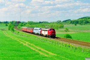 DSB 90 86 00-21 105-8+MY 1126+B 188+A 000 som PX 8248 Hb-Rd. Km 171,0 Fa (Randers-Bjerregrav) 15.05.1999.