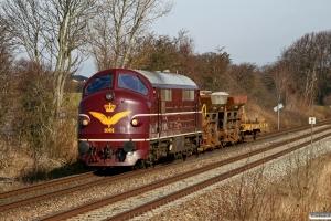 DSB MX 1001+Fccs 843-6+Fccs 842-8+Xtg 267-9 som BG 6720 Vj-Fa. Km 9,2 Fa (Fredericia-Børkop) 22.03.2010.