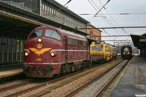DSB MY 1101+Rs+EUSCT UFM 120 (97 86 30 501 17-6)+Rs som BM 6337 Cph-Ro. Roskilde 24.11.2012.