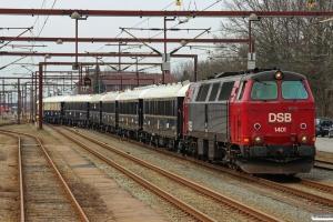 DSB MZ 1401 med EP 6333 Kh-Pa. Padborg 14.04.2013.