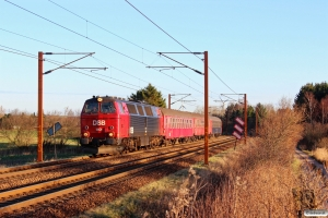 DSB MZ 1401+B 188+Bk 016+Bc-t 317 som VP 8131 Kh-Kd. Km 171,6 Kh (Holmstrup-Tommerup) 07.12.2013.