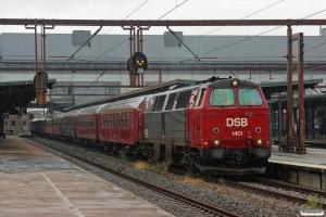 DSB MZ 1401+A 000+Bk 016+Bc-t 317+BL 1324+B 2000+CC 1132+CD 1210+AX 393+AC 42 som VP 8227 Sg-Od. Odense 31.08.2014.