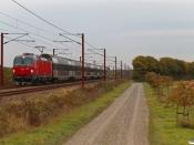 DSB EB 3201 med EP 6309 Kh-Od. Marslev 20.10.2020.
