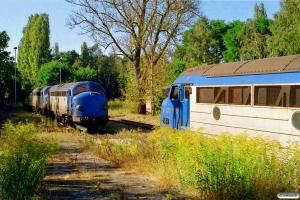 Eurotrac V 170 1127 og V 170 1149+V 170 1155 hensat. Haldensleben 12.09.2002.