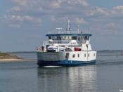 Thyborøn-Agger færgen. Thyborøn 25.06.2020.