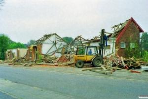 Bylderup Bov station under nedrivning 26.09.1998.