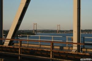 Den gamle og nye Lillebæltsbro 26.07.2008.