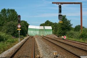 Broarbejde i østenden af Bramming. 27.06.2011.