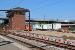 Renovering af perron mellem spor 7 og spor 8. Odense 24.07.2016.