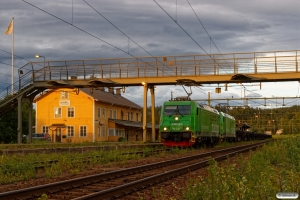 GC Re 1435+Re 1432 med GT 66779. Långsele 18.06.2018.