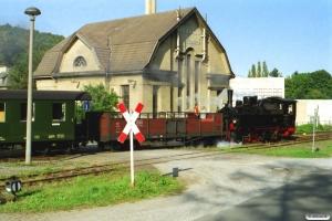 HSB 99 5902 med Tog 8992. Wernigerode Hasserode 13.09.2002.