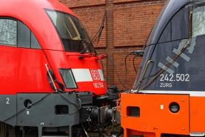 DB 182 506+HCTOR 242.502. Padborg 25.03.2016.