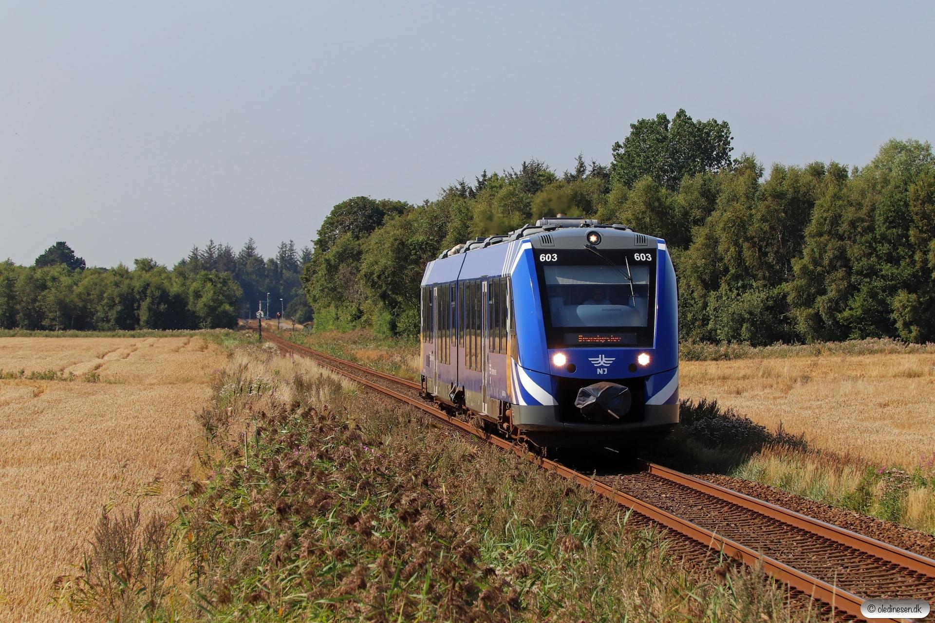 NJJ Lm 673+643 som PP 142142 Sgb-Fh. Rimmen - Strandby 16.08.2020.