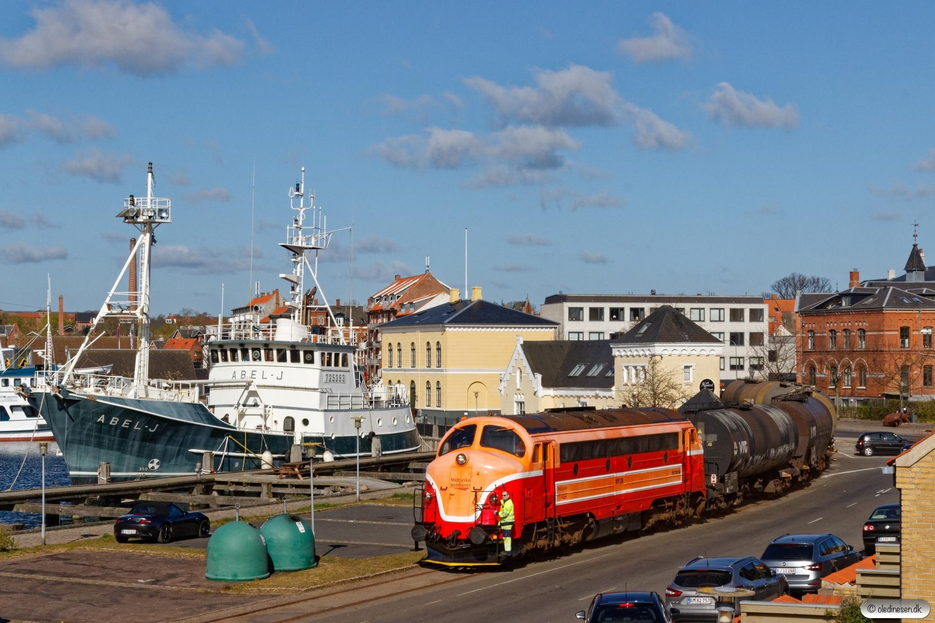MjbaD MY 28+5 vogne fra Koppers. Nyborg 16.04.2020.