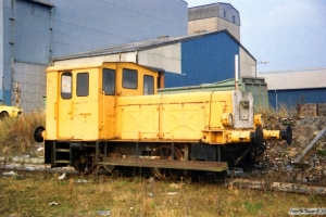 Genfiber Traktor (ex. DSB Traktor 3). Assens 21.10.1987.