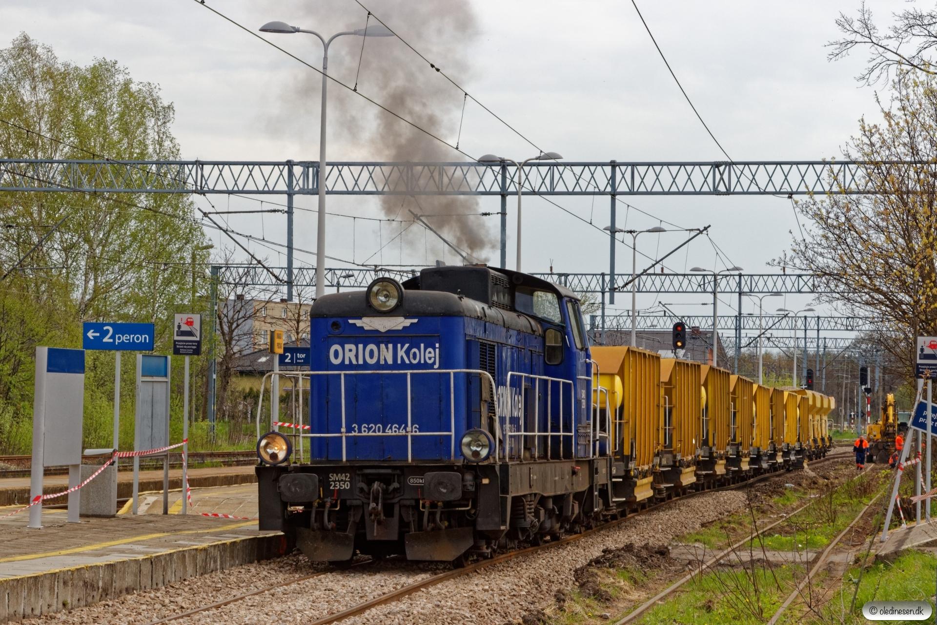 ORION SM42-2350+sporombygningsmateriel. Orzesze Jaśkowice 24.04.2019 kl. 11.21.