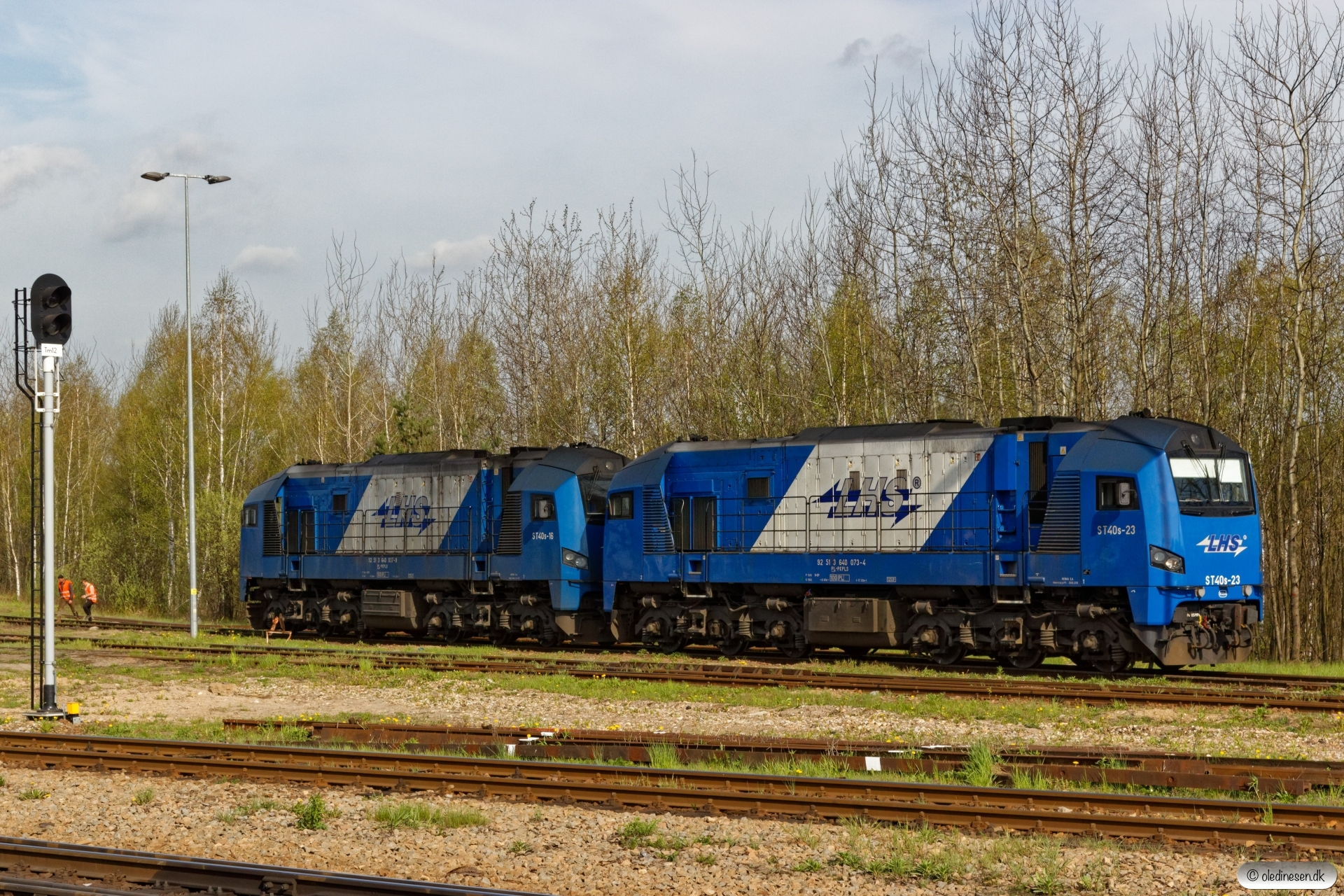 PKPLS ST40s-23+ST40s-16 rangerer. Sławków Południowy LHS 25.04.2019 kl. 09.04.