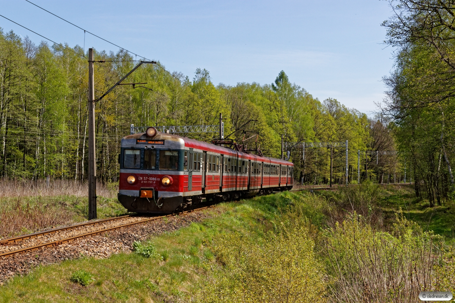 PREG EN57-1086 som OsP 94605. Bronów - Chybie Mnich 26.04.2019 kl. 11.07.