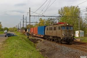 EKKW EU07-133+25 Sggnss (containere). Petrovice u Karviné (Tjekkiet) 26.04.2019 kl. 14.34½.