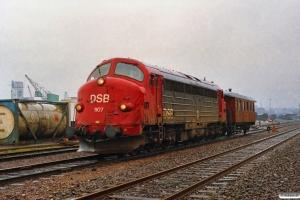 DSB MY 1107+HHJ C 25 som G 7371 (Oj)-Kd-Fa. Kolding 01.05.1992.