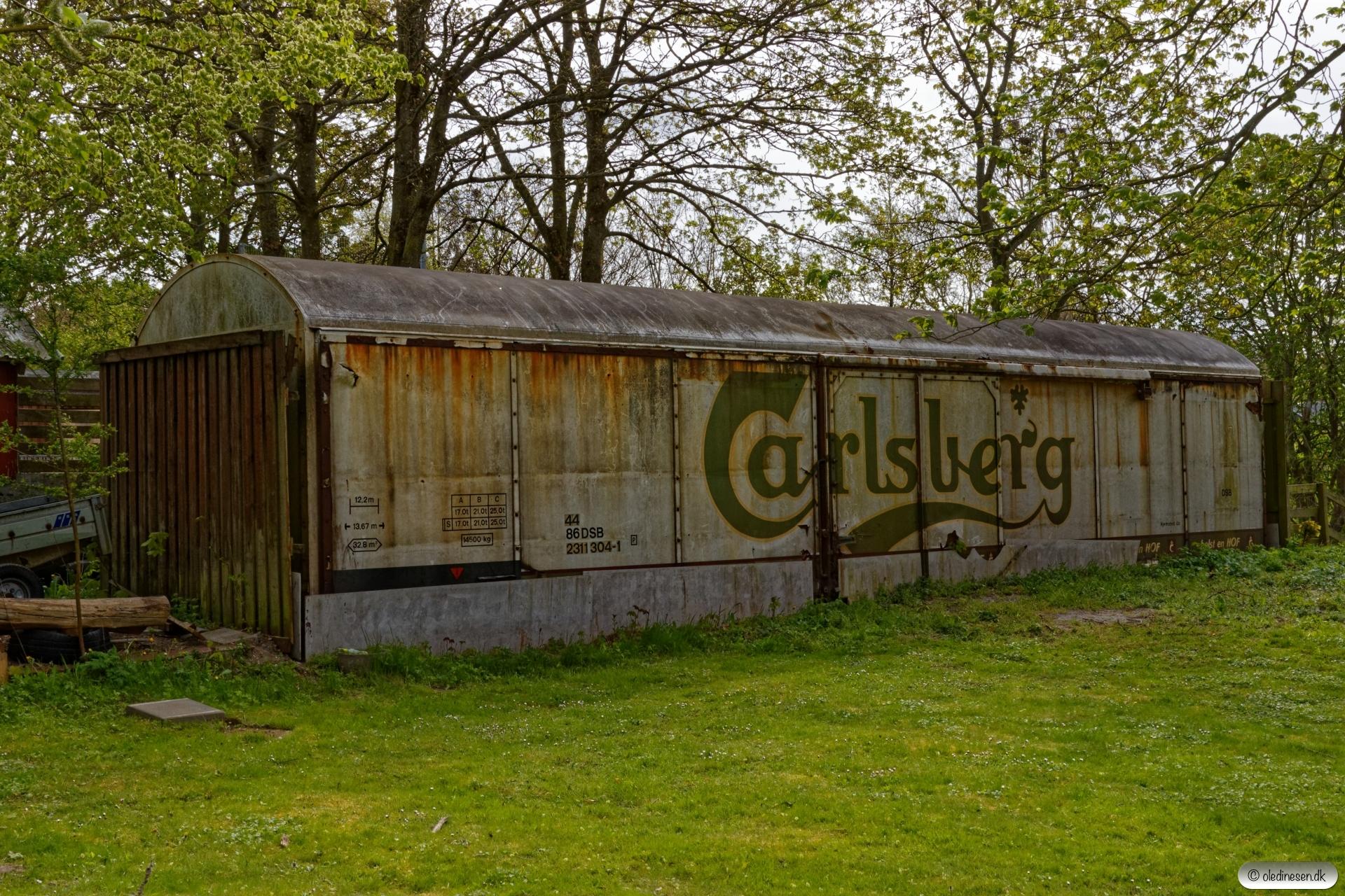 Vognkassen fra DSB 44 86 231 1 304-1. Mårslet 03.05.2019.