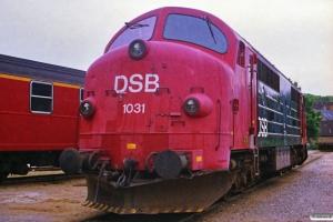 DSB MX 1031. Århus 22.06.1988.