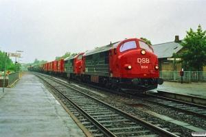DSB MX 1004+MX 1018 med G 40721 Kk-Rfø. Eskilstrup 29.06.1989.
