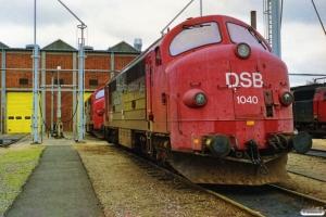 DSB MX 1040 og MX 1043. Århus 08.10.1989.