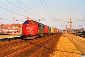 DSB MX 1041+MX 1006 med G 40559 Kk-Rfø. Ringsted 17.03.1990.